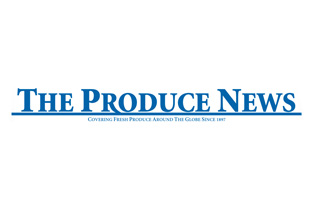 The Produce News written in large blue font and underlined