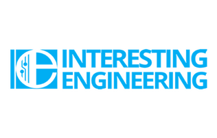 """Interesting Engineering"" written in blue block font next to a large blue ""e"" emblem. all on a white background."
