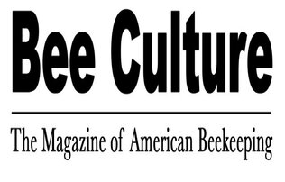"""Bee culture"" written in bold black font over a horizontal black line over ""The magazine of American Beekeeping"" written in thin black font. All of this is situated on a white background."